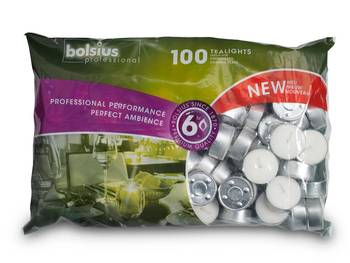 4 Stunden Brenndauer weiß RAL Teelichte Bolsius Teelichter im 60er Pack mit ca