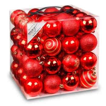 Christbaumkugeln Plastik Rot.64 Christbaumkugeln Aus Kunststoff ø 6 Cm Rot