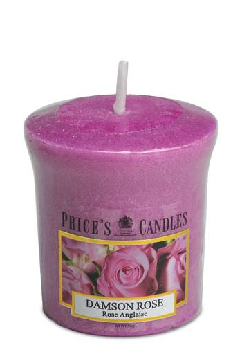 Prices Candles Votivkerze 55g - Damson Rose (1 Stück)